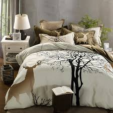 4 5 pcs forter set tree and anime bed sheets bedspread coverlet