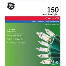 GE ConstantON Christmas Lights Clear 150 Count