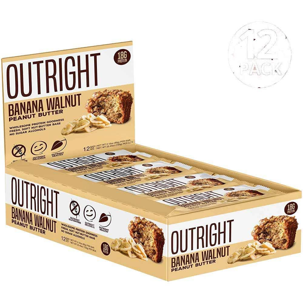 Outright Bars, Banana Walnut, Peanut Butter - 12 pack, 2.12 oz bars
