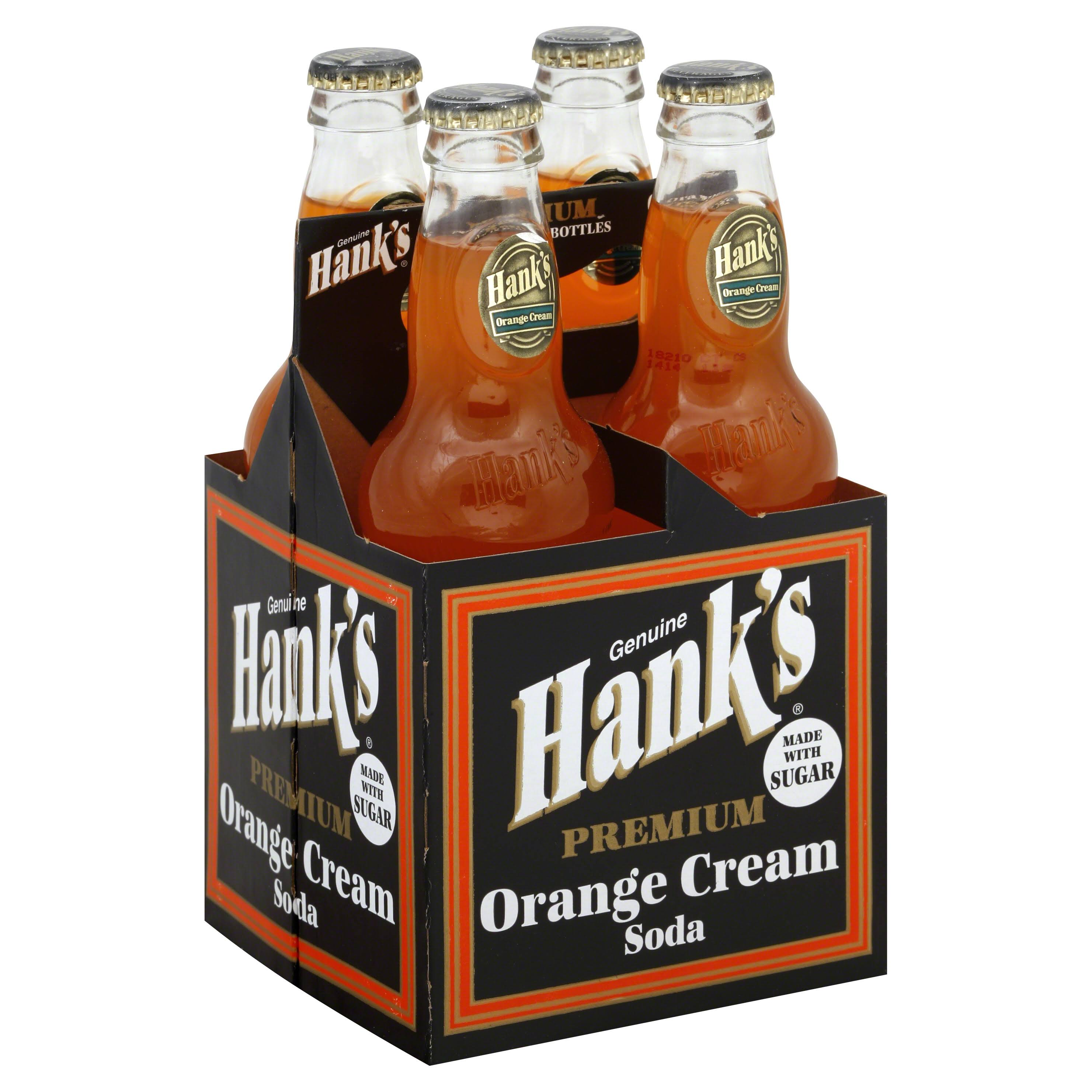 Hank's Gourmet Soda - Orange Cream, 4ct