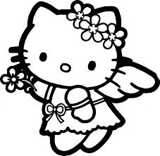 Hello Kitty Coloring Page Wecoloringpage Sheet Cartoons