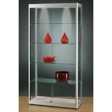 illuminated glass showcase glass display cabinet e4office