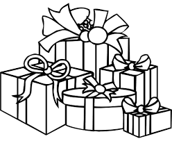 Lovely Decoration Christmas Present Coloring Pages Birthday Gifts Presents