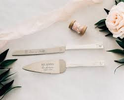 Personalized Vera Wang Love Knots Cake Knife and Server Set