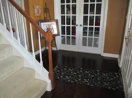 Small Foyer Tile Ideas by Decorations Interesting White Storage Under Stair With Orange