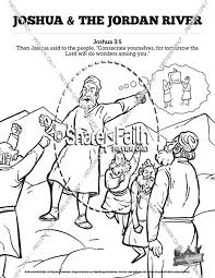Joshua 3 Crossing The Jordan River Sunday School Coloring Pages