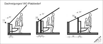 planung wc bei dachschräge badezimmer unter der treppe