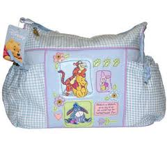 Disney Baby Winnie The Pooh by Disney Diaper Bags Large Disney Winnie The Pooh Baby Blue Gingham