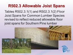 Floor Joist Span Table For Sheds by 2012 Virginia Residential Code Significant Code Changes Ppt Download