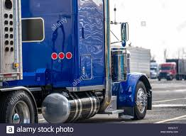 100 Big Truck Accessories Shiny Blue Classic American Bonnet Long Haul Big Rig Semi Truck With