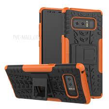 Heavy Duty Rugged PC TPU Kickstand Phone Case for Samsung Galaxy Note 8 Orange