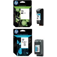 Original HP 15 17 Black Colour Combo Pack Ink Cartridges C6615DE C6625AE