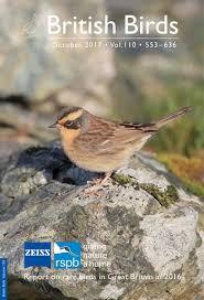british birds magazine october 2017 vol 110 553 636