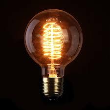 sale high quality e27 g95 40w filament light bulb vintage