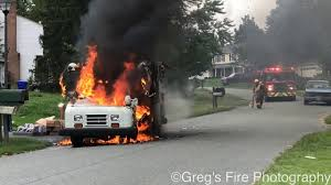 100 Postal Truck Fire PRE ARRIVAL FULLY INVOLVED MAIL TRUCK FIRE WITH EXPLOSION YouTube