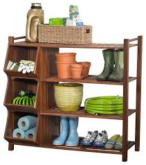 Merry Products 4 Tier Outdoor Shoe Rack Cubby & Reviews