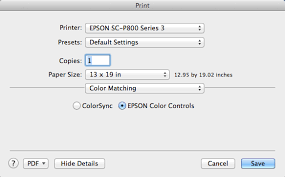 Check The Color Matching Tab You May Find That ColorSync Is Active Clicking On Epson Controls Will Restore Print Mode Options
