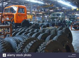 Modified Truck Central Assembly Line At The Kama Automobile Works Or ...