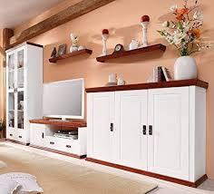 clever moebel wohnwand aus kiefernholz weiß kirschbaumfarben lackiert schrank
