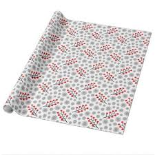 Red Gray Scandinavian Pattern Wrapping Paper craft supplies diy