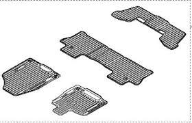 16 17 pilot high wall all season floor mats black set of 4