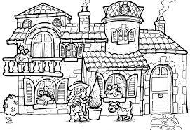31 dessins de coloriage maison à imprimer
