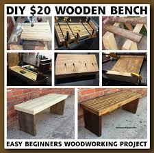 DIY 20 Wood Bench Project EASY BEGINNERS WOODWORKING PROJECT