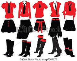 Female Clothing Clothes For Women Eps Vectors