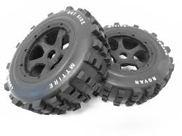 100 Truck Tires And Wheels 15 Scale Dirt Knobby 195x75 Rovan RC