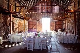 Rustic Indoor Reception Summer Wedding Photos Pictures