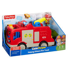100 Fisher Price Fire Truck Ride On Little People Helping Others Walmartcom