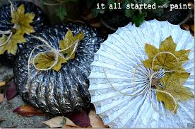 Make Dryer Vent Pumpkins by At The Urban Garden Gate It All Started With Paint