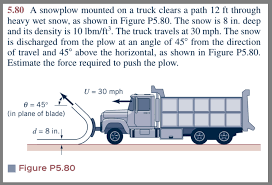 100 How To Plow Snow With A Truck Nswered 580 Snowplow Mounted On A Truck Bartleby