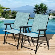 Stack Sling Patio Chair Turquoise Room Essentials by Amazon Com Sundale Outdoor Beach Yard Pool Sling Back Chairs