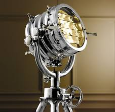 a reproduction of a 19th century british marine light used to