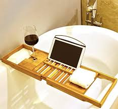 premium bamboo bath tray rack by harcas gorgeous extendable