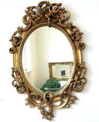 barock spiegel wandspiegel oval 90cm gold barock spiegel