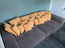 sofa lounge ecke modern 1 50x3 00m 2 teilig mit kissen