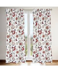 new year s deals on tracy jacobean floral print hidden tab curtain