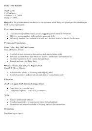 Bank Teller Description Job For Resume Beautiful Samples Free Examples