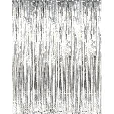 Foil Fringe Curtain Nz by Metallic Foil Tinsel Fringe Curtain Door Rain Home Room Wedding