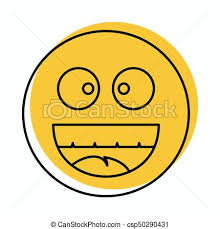 Laughing Face Icon In Doodle Style Vector Illustration For Design And Web