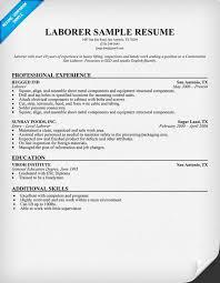 resume template for laborer unforgettable general labor resume
