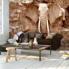 vlies fototapete steinoptik skulptur elefant relief afrika