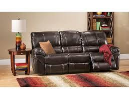 slumberland valdez collection brown reclining sofa