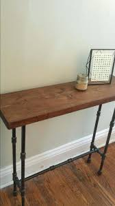 Full Image For Free Diy Console Table Plans Wood And Pipe Rustic By