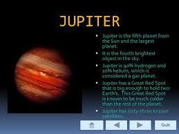 JUPITER Jupiter Is The Fifth Planet