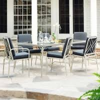 7 Piece Patio Dining Set by Fairy Tale 7 Piece Contemporary Patio Furniture Set Stori Modern