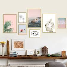 2 5us nordic pink leaf posters and prints desert