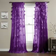 Purple Waterfall Ruffle Curtains by Decor Pink Ruffle Curtains By Kmart Curtains For Home Decoration